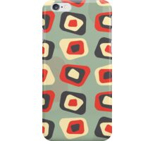 Modern colored curved rectangle pattern iPhone Case/Skin