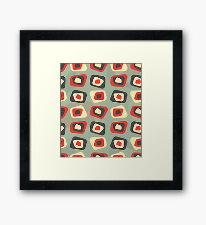 Modern colored curved rectangle pattern Framed Print