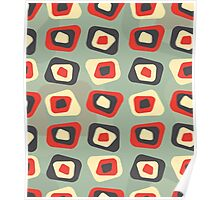 Modern colored curved rectangle pattern Poster