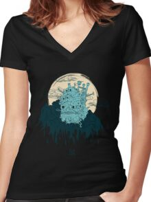 The Magic Castle Women's Fitted V-Neck T-Shirt