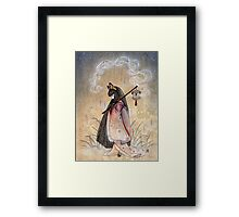 Bad Thoughts - Kitsune Fox Yokai  Framed Print