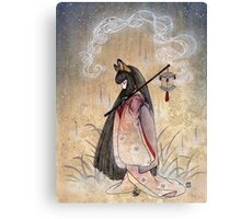 Bad Thoughts - Kitsune Fox Yokai  Canvas Print
