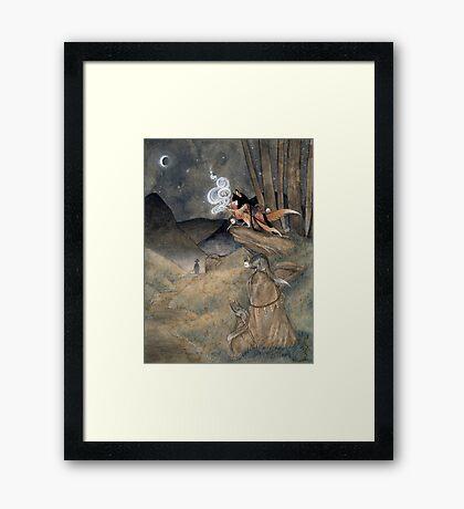 Okina Illusions - Fox Kitsune Yokai Framed Print