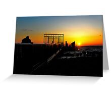 Winter Sunset Jersey Style Greeting Card