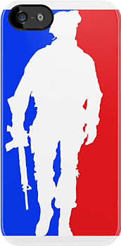 MLG Modern Warfare Walking Soldier iPhone Case by TalkThatTalk