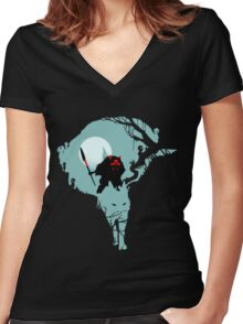Forest Princess Women's Fitted V-Neck T-Shirt