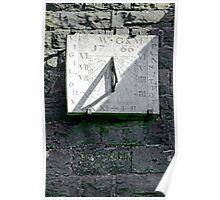 Vertical Sundial on Fenny Bentley Church Poster