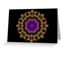 Spirograph Kaleidoscope Greeting Card