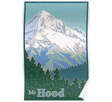 Vintage Mount Hood Travel Poster Poster