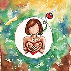 The Garden of God: A Miscarriage Painting by Erika  Hastings