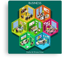 Business Cell Isometric Canvas Print