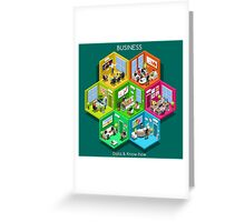 Business Cell Isometric Greeting Card
