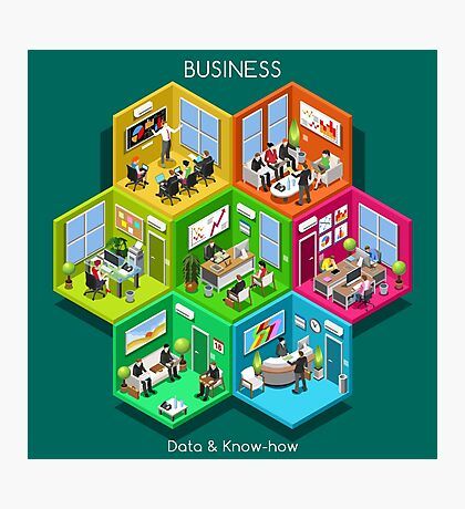 Business Cell Isometric Photographic Print