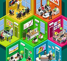 Business Cell Isometric by aurielaki