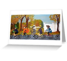 Halloween Bike Ride Greeting Card