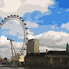 London Eye artwork by cycreation