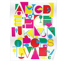 Graphic Alphabet Poster