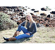 Lacey Caudill in Polo Ralph Lauren and Boots Photographic Print