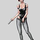 game character concept girl digital painting - Agent Milla by gordon anderson