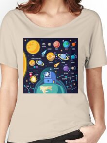 Universe Concept Isometric Women's Relaxed Fit T-Shirt