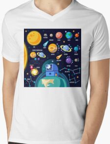 Universe Concept Isometric Mens V-Neck T-Shirt