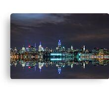 New York City Skyline @ Night ~ New York City ~ USA Canvas Print