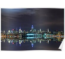 New York City Skyline @ Night ~ New York City ~ USA Poster