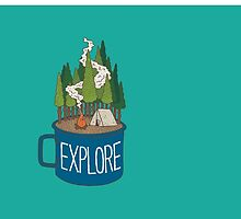 Camp Cup Explore by StickerArt