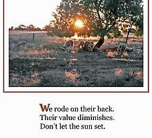 Sunset Sheep Haiku by George Petrovsky