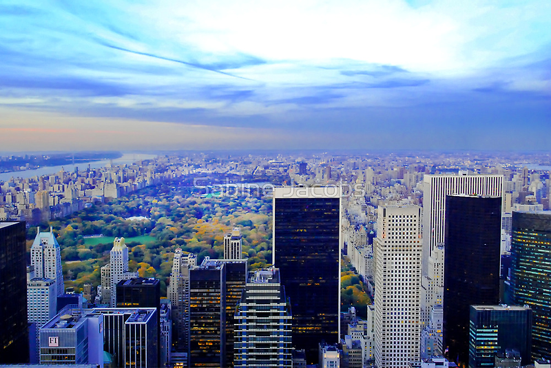 Overlooking Central Park ~ New York City ~ USA by Sabine Jacobs