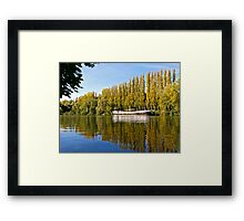 Reflections on the River Oise Framed Print