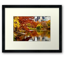 Autumn Colors in Central Park ~ New York City ~ USA Framed Print