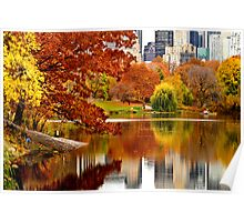 Autumn Colors in Central Park ~ New York City ~ USA Poster
