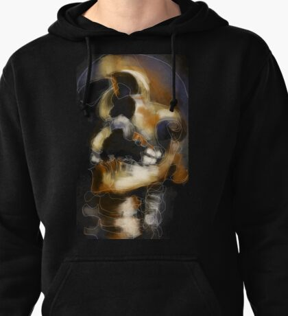 Skully - Abstract Expressionist Skull Pullover Hoodie