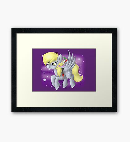 Derpy Hooves Sir Spike Framed Print