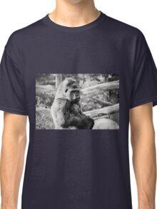 Female Silverback Gorilla Black and White Classic T-Shirt