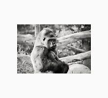 Female Silverback Gorilla Black and White Unisex T-Shirt