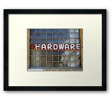 Vintage Hardware Sign Framed Print