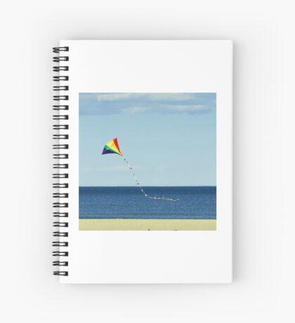 Kite over sea Spiral Notebook