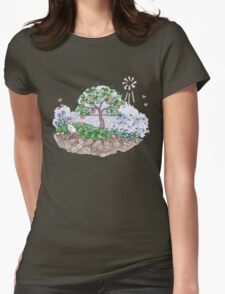 Gaia with outback persimmon tree Womens Fitted T-Shirt