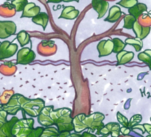 Gaia with outback persimmon tree Sticker