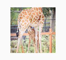 Mama Giraffe and nursing calf Unisex T-Shirt