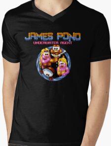 James Pond Mens V-Neck T-Shirt