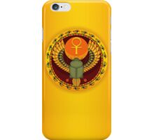 Egyptian sacred bug a scarab iPhone Case/Skin