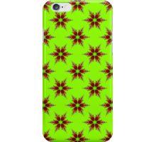 Fractal Flower on Green iPhone Case/Skin