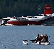 paddling up to the martin mars water bomber by alex skelly