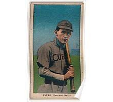 Benjamin K Edwards Collection Johnny Evers Chicago Cubs baseball card portrait 003 Poster