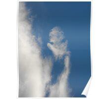 cloud face Poster