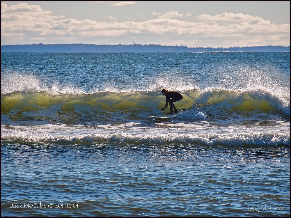 Surfs Up at Deep Hole - Matunuck - Rhode Island by Jack McCabe