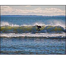 Surfs Up at Deep Hole - Matunuck - Rhode Island Photographic Print